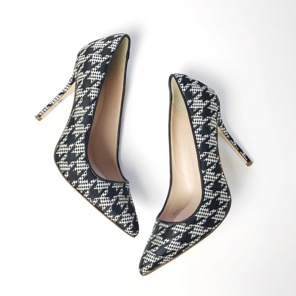 0aea72cfb428 J Crew Roxie Houndstooth Printed Pointy Pumps